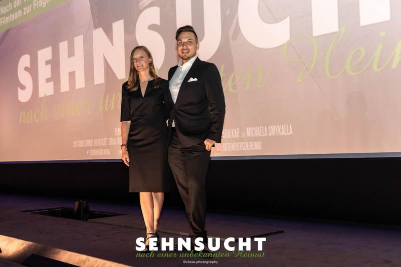 """""""Sehnsucht nach einer unbekannten Heimat"""" - Weltpremiere in der Astor Film Lounge im ARRI München - Die Filmproduzenten Holger Gutt und Michaela Smykalla"""